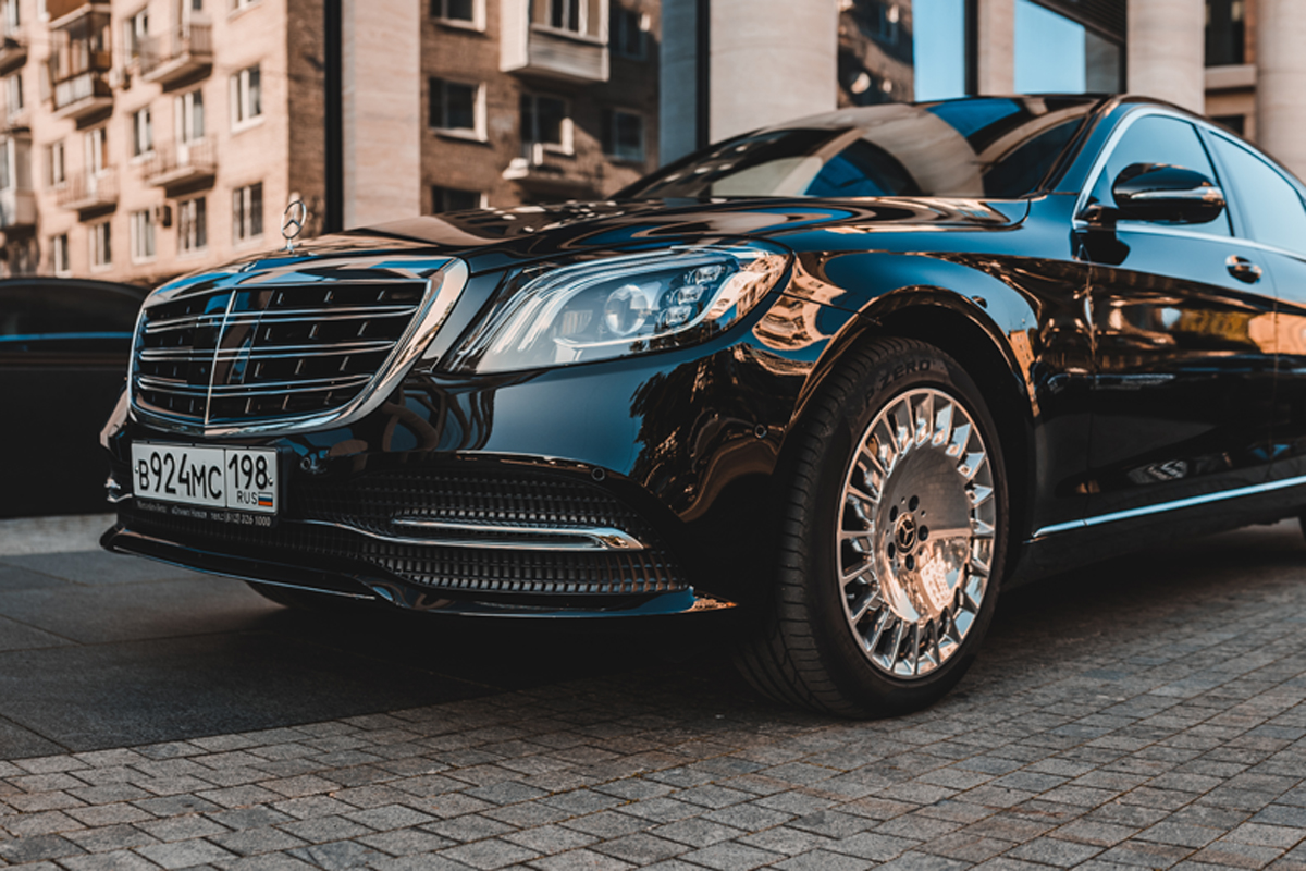 MERCEDES 222 RESTYLING салон white